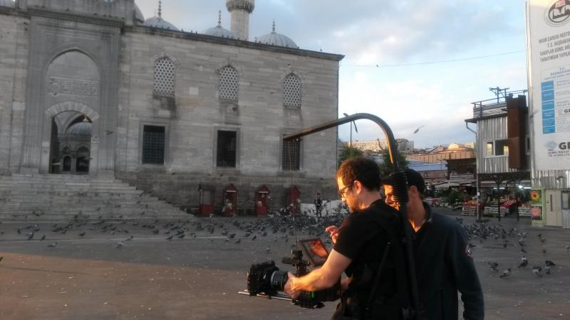 Lonely planet commercial film 06:00 am Eminonu New mosque filming