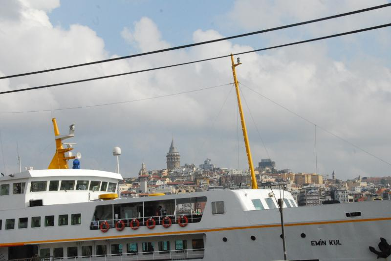 Ferry & Galata tower (back ground) mixture