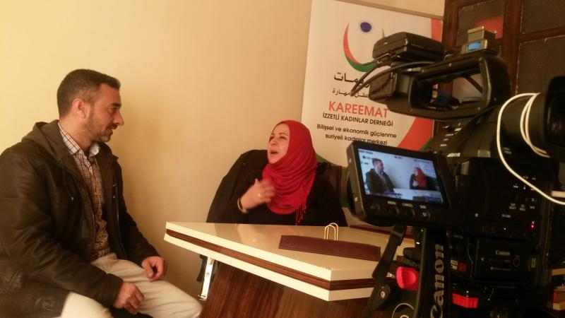 Interview with Kareemat Association president ms. Necla in Kilis