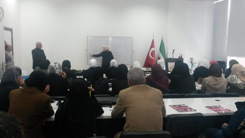 Turkish language lesson in Sankari humanitarian foundation