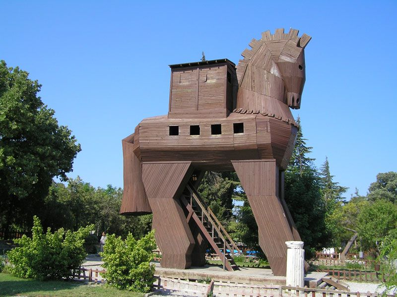 The ancient troy horse